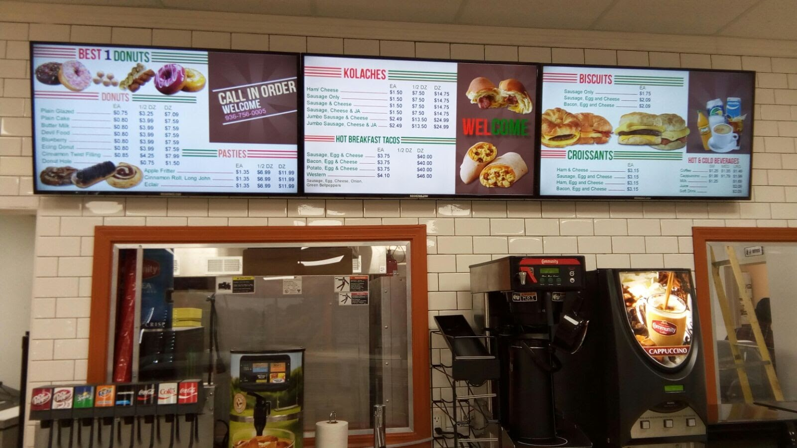 Donut Shop Digital Menu Boards