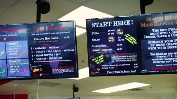 Hot Toppings Pizza Upgrades with HD2Menus