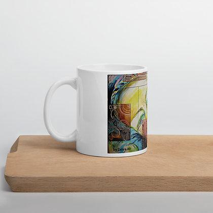 1/2 Witness Mug by Zahra Ali