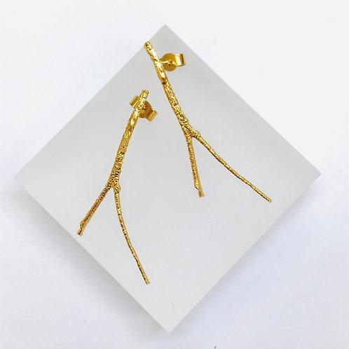 Briar Branched Drop Earrings by Natalie Salisbury