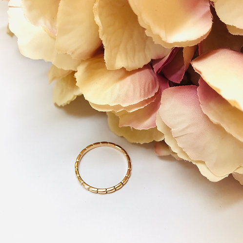 Mini Stack Brick Rose Gold Ring
