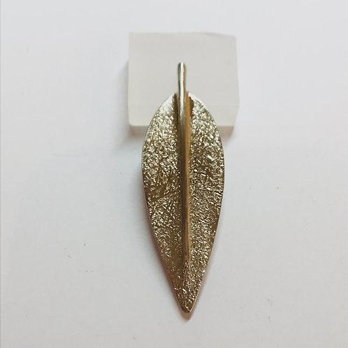 Pohutakawa Leaf Silver Brooch by Bob Wyber