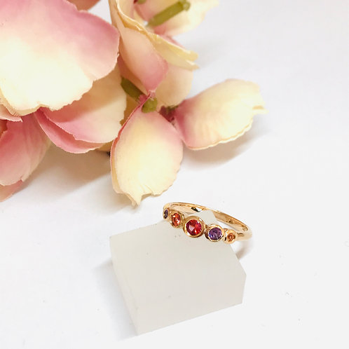 Paparadscha Sapphire Candy Ring