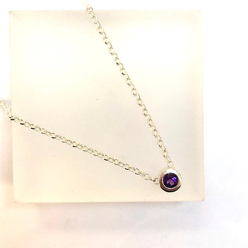 Floating Amethyst Necklace by Zoe Porter