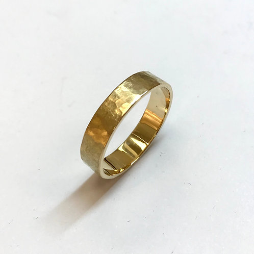 Textured 18 Carat Gold Wedding Ring