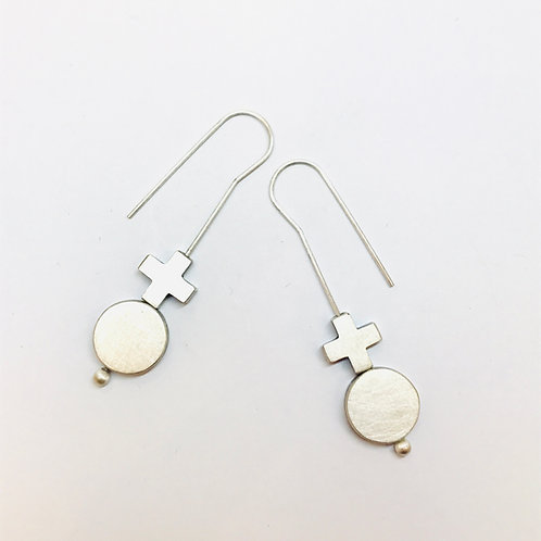 Turning Point Silver Earrings by Kate Alterio
