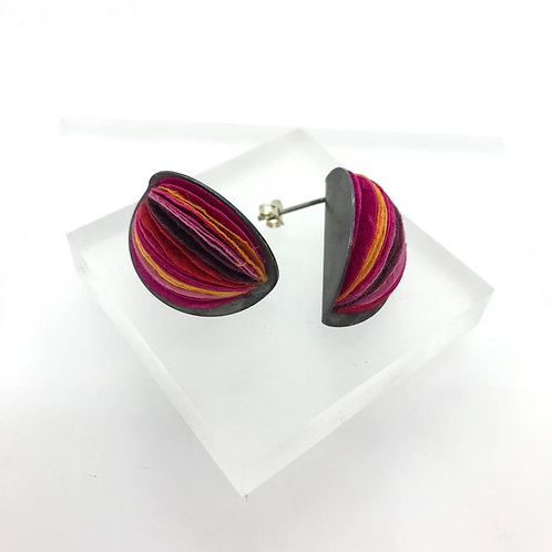 Round Paper Earrings