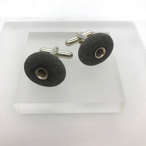 Pebble cufflinks