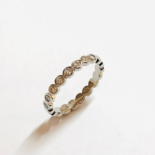 Hula Ring - Platinum and Diamonds