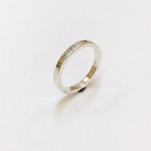 Aqua Marine 4 Stone Ring by Zoe Porter