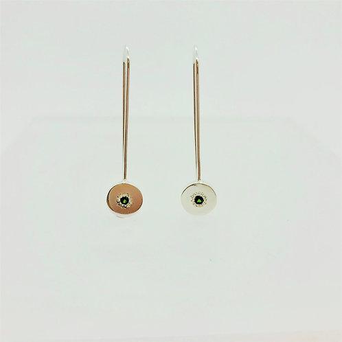 Burst Drop Silver Earrings by Zoe Porter