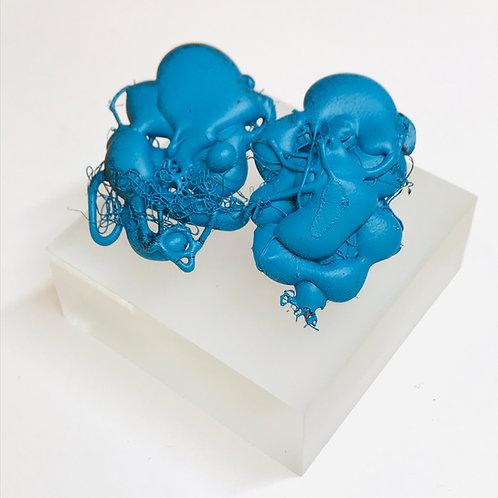 Oval Fragment Stud Earrings by Phillipa Gee
