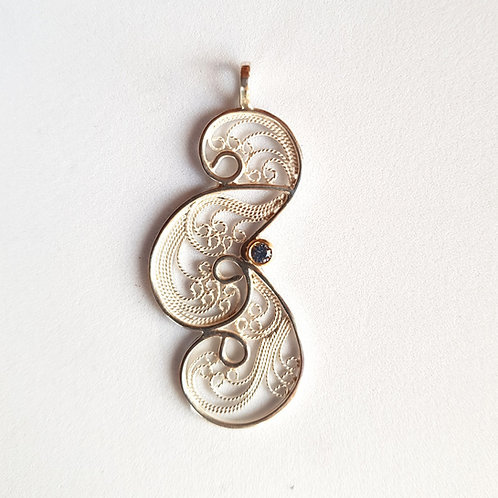 Clouds II Pendant Necklace by Lara Laverdure
