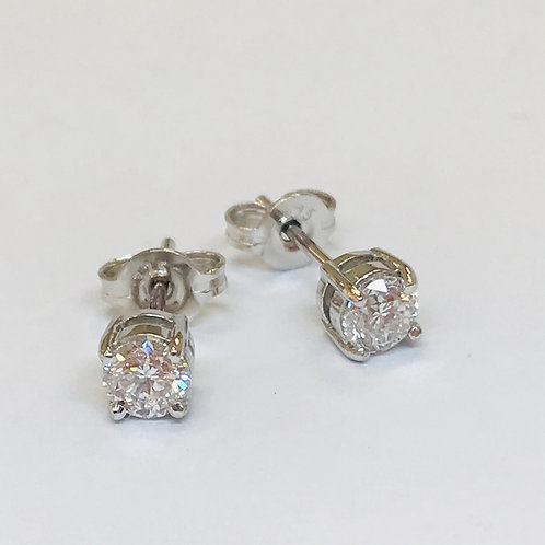 Diamond White Gold Stud Earrings