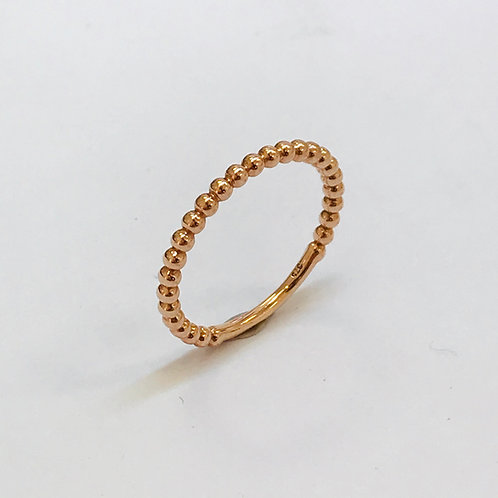 9ct Rose gold Bubble ring