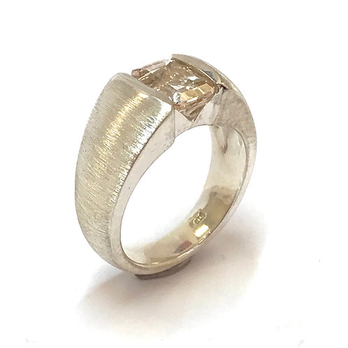 Natural Pink Topaz Ring