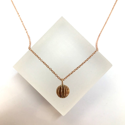 Medium Lantern Rose Gold Necklace