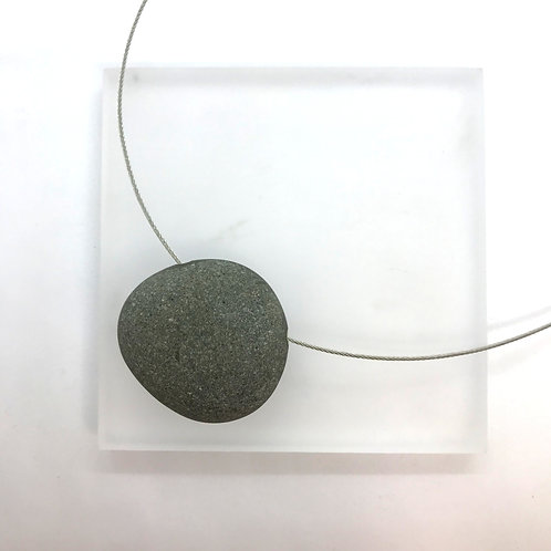Hollow Pebble - necklace