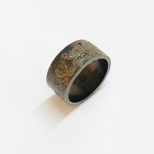Ruby Gold Dust Ring by Natalie Salisbury