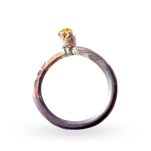24 Carat Gold and Silver Ring by Neil Adcock