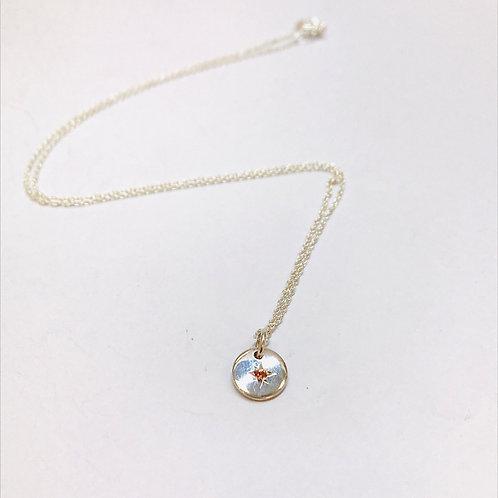 Starry Night Peach Sapphire Necklace by Zoe Porter