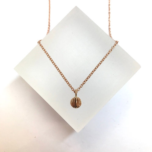 Mini Lantern Rose Gold Necklace