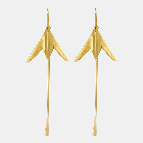 Kaitiaki Gold Plated Earrings by Kiri Schumacher