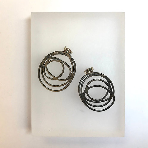 Oval Scribble Earrings by Phillipa Gee