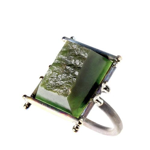 NZ Jade Titanium Ring by Neil Adcock