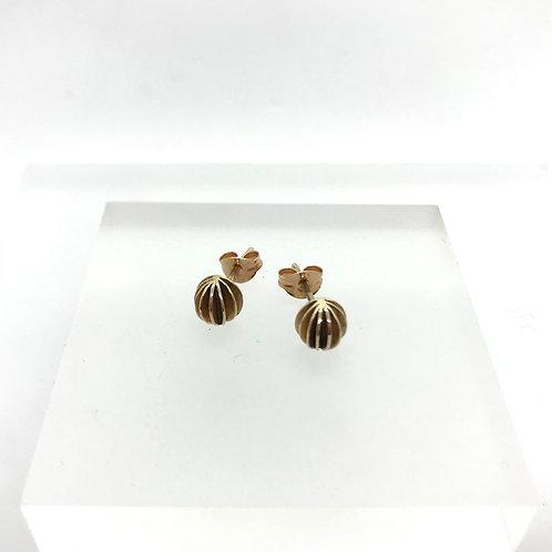 Lantern stud earrings