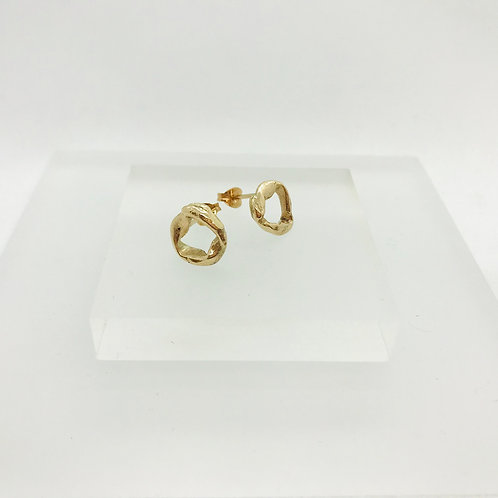 Rose gold Knot - studs