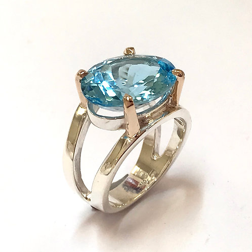 Cosmos Swiss Blue Topaz Ring