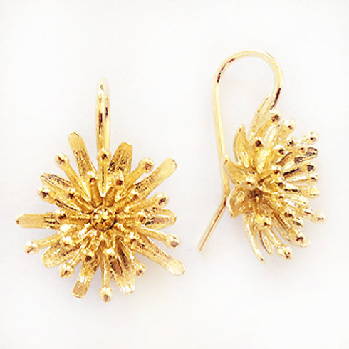 Mt Cook Lily Earrings by Kiri Schumacher