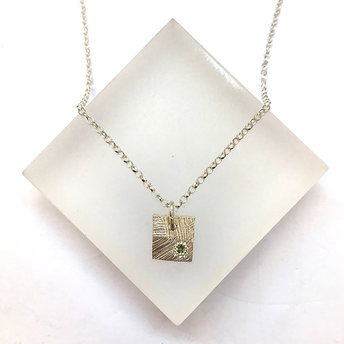 Square Disco Sapphire Necklace