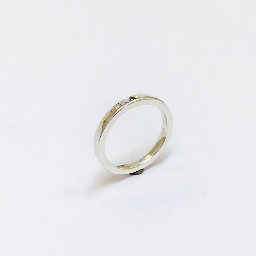Sapphire Silver Ring by Zoe Porter