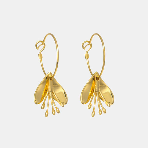 Rengarenga Hoop Earrings by Kiri Schumacher