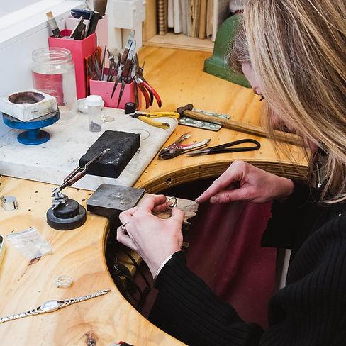 At the workbench in Vu Jewellers Queenst