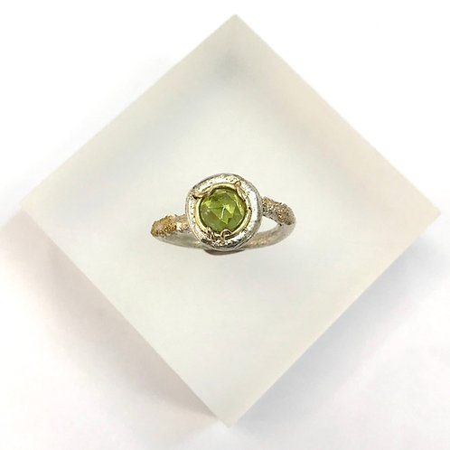 Peridot Solitaire Ring by Natalie Salisbury