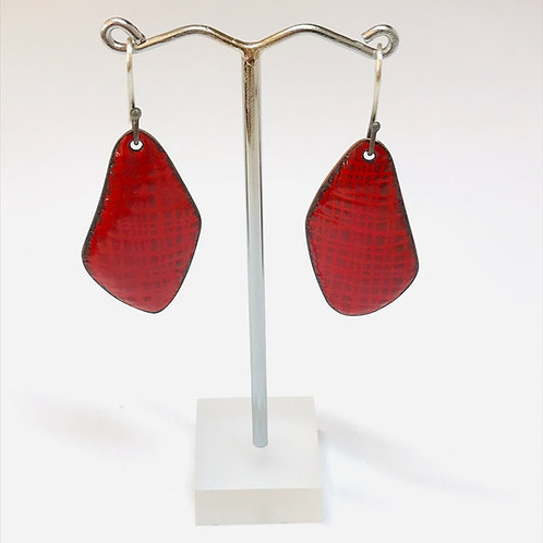 Scribe Earrings Red by Phillipa Gee