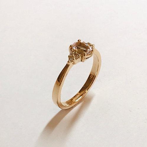 Morganite 6 Diamond Ring
