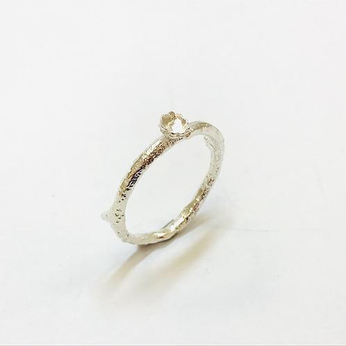 Briar Flowered Silver Ring by Natalie Salisbury