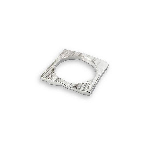Square Ridge Ring by Nicola Whelan