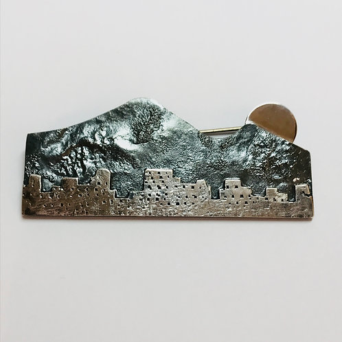Moonrise over the City Brooch by Bob Wyber