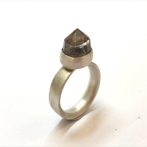 'Solar' Smokey Quartz Ring by Julie Trlin