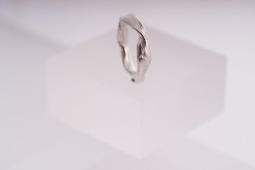 Get Knotted Wide Silver Ring