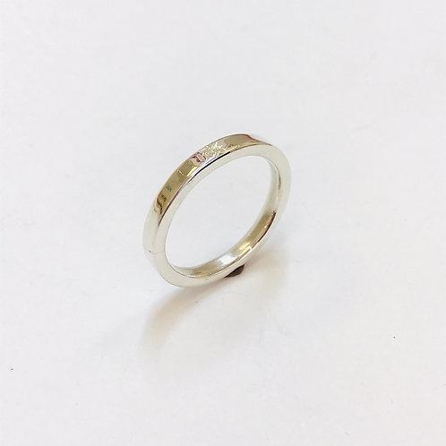 Diamond Silver Ring by Zoe Porter