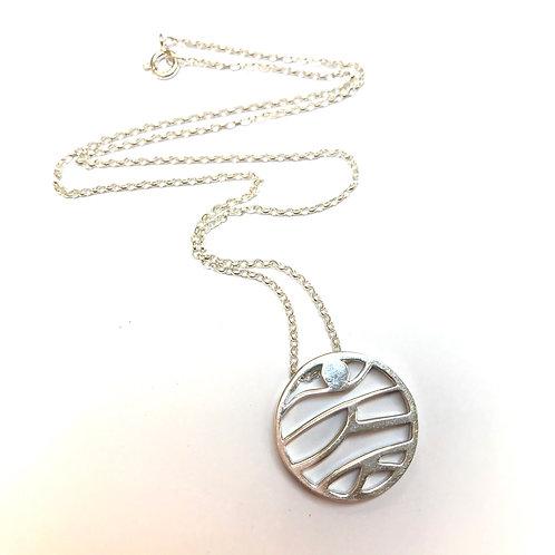 Mountain Silver Necklace by Mairead De Blaca