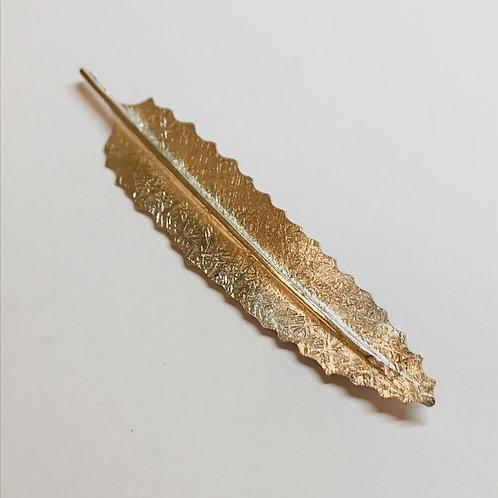 Silver Rewa Rewa Leaf Brooch by Bob Wyber