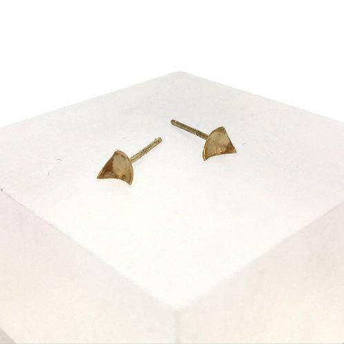 18 carat Gold Triangle Stud Earrings