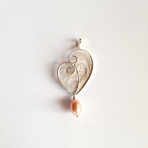 Heartfull Pendant Necklace by Lara Laverdure